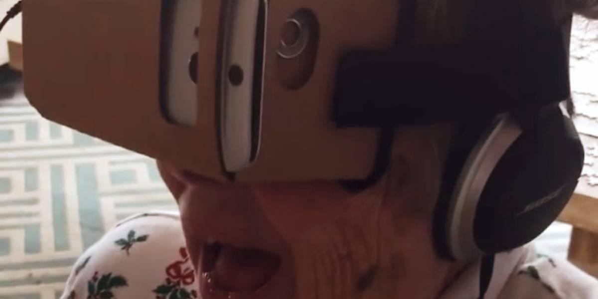 Una abuela de 88 años prueba la Realidad Virtual por primera vez