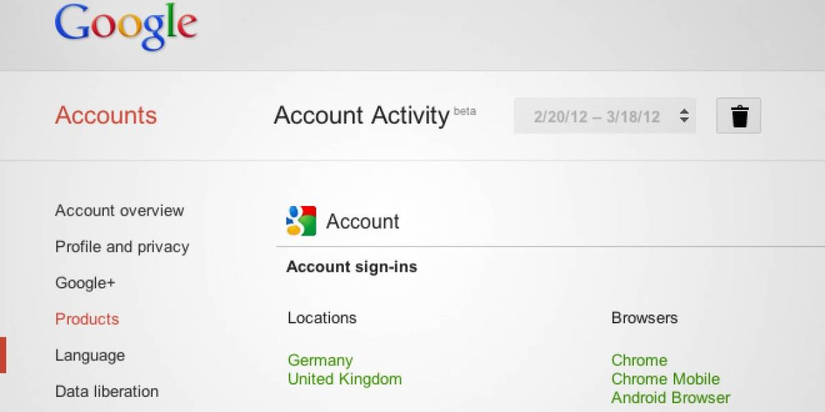 Analiza tu vida dentro de Google con Account Activity