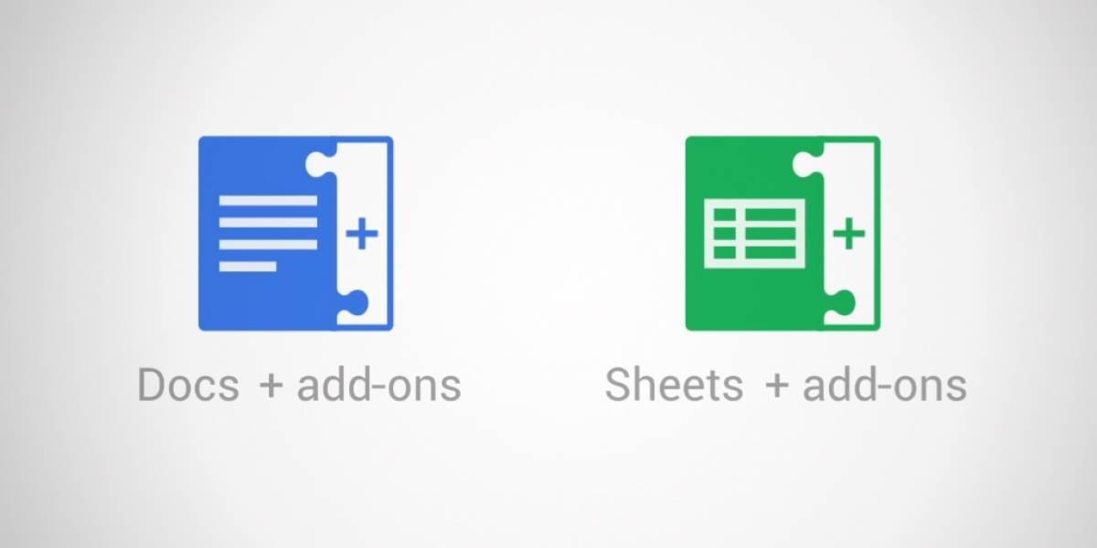 Google lanza add-ons para sus documentos y planillas online