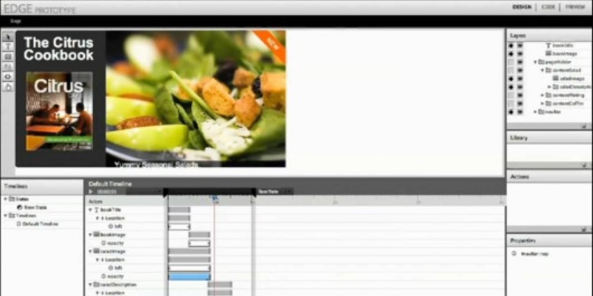 Edge: La solución de Adobe para crear animaciones basadas en HTML5