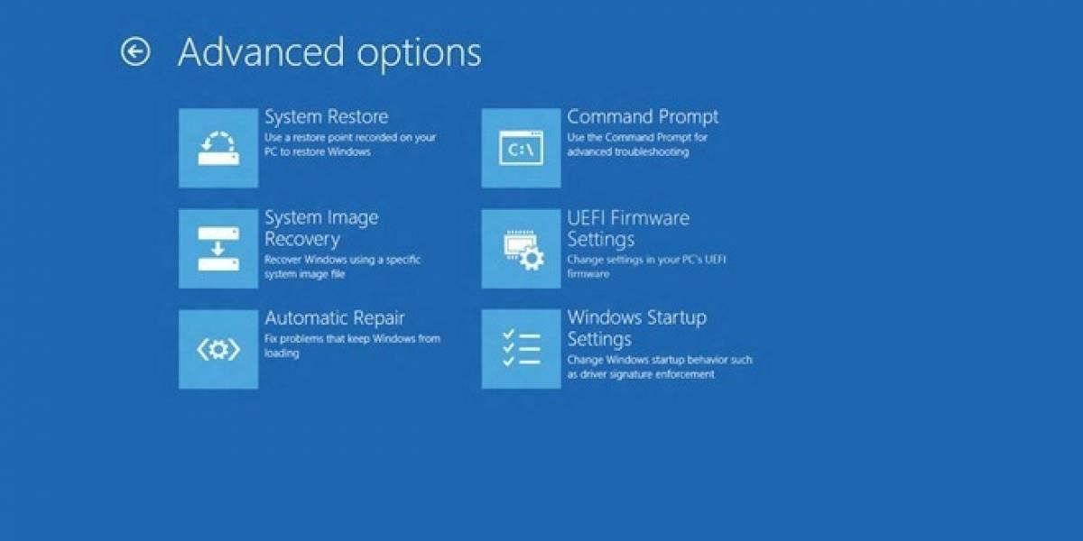 Windows 8 bootea tan rápido que no da tiempo al usuario para presionar F8