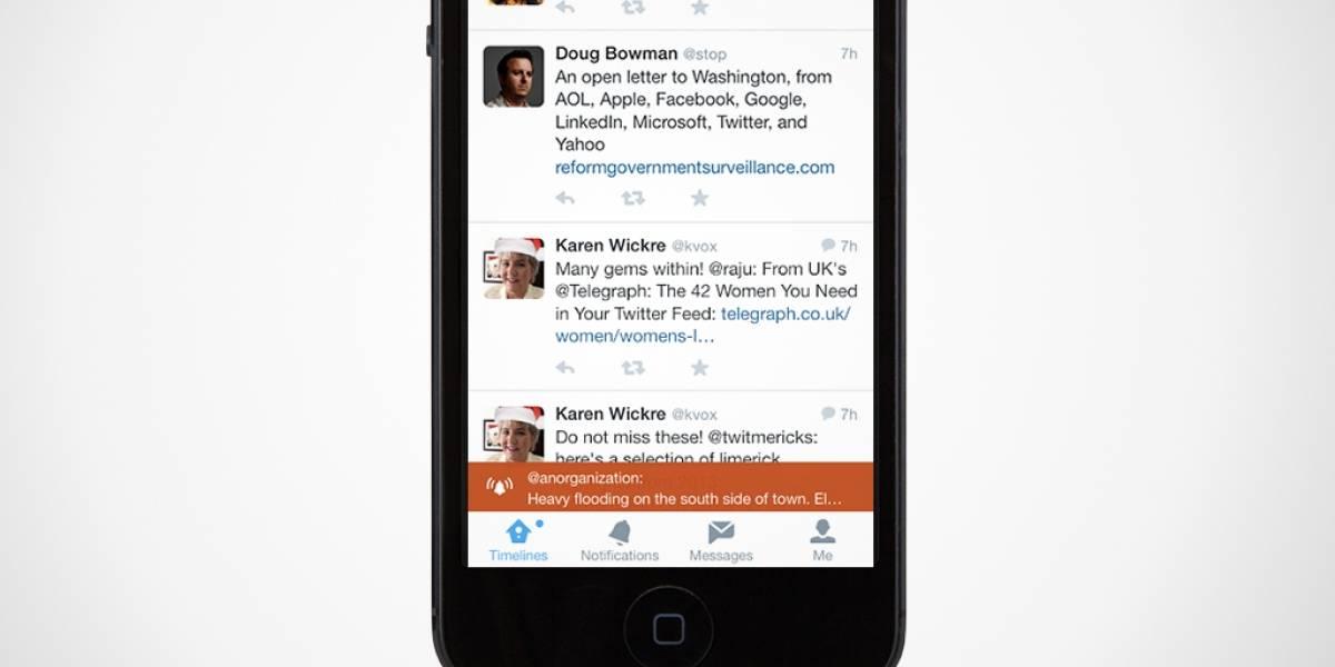 Twitter agrega funciones a sistema de alertas de emergencia