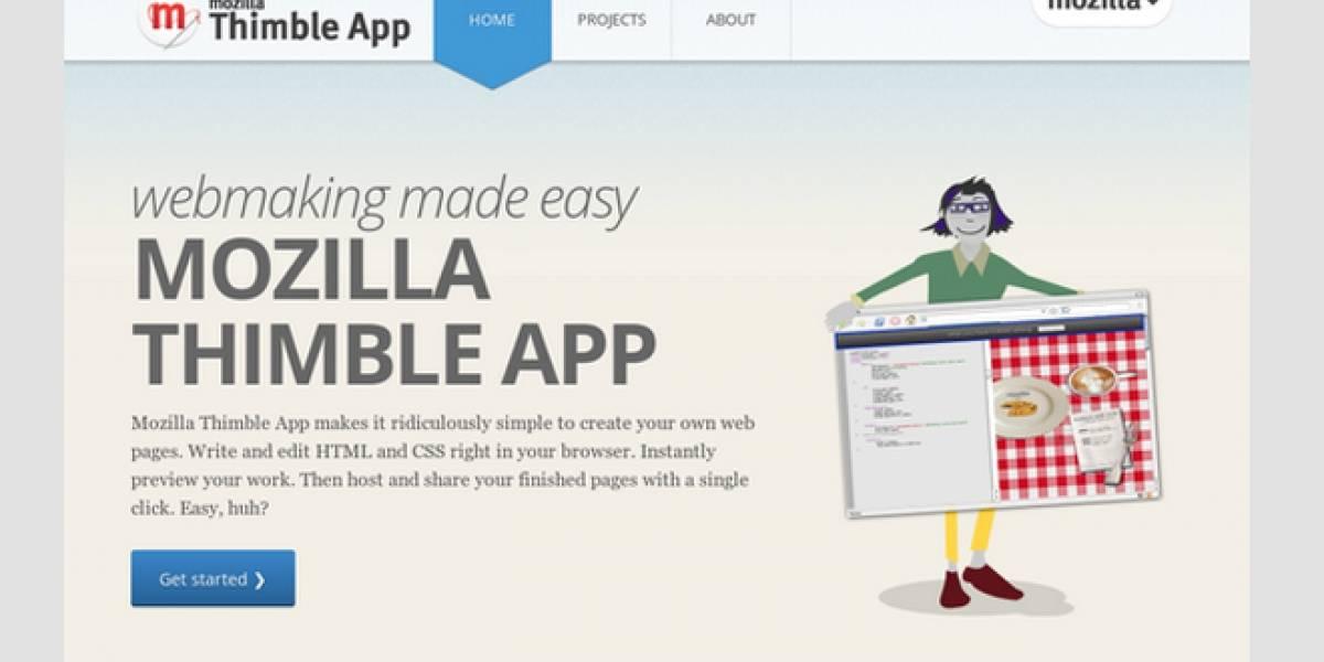 Mozilla lanza Thimble, una herramienta que te permite crear tus propias páginas web