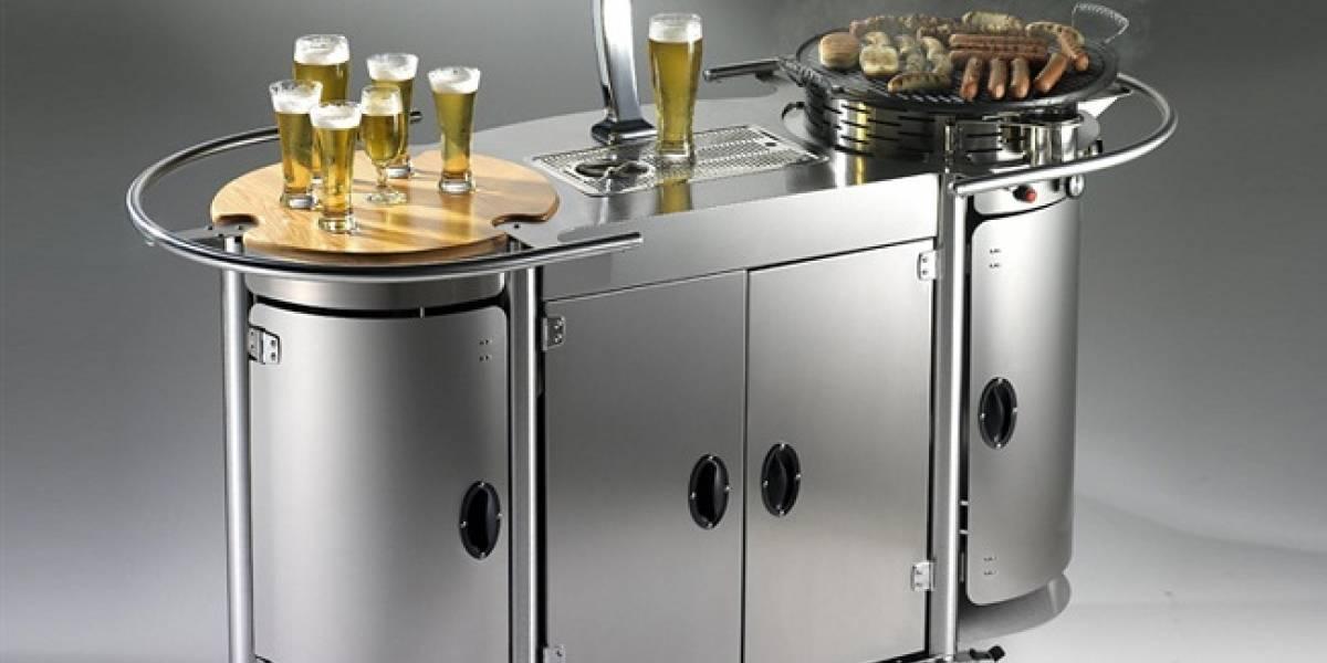 Glorioso: Cerveza y asado en un mismo carrito