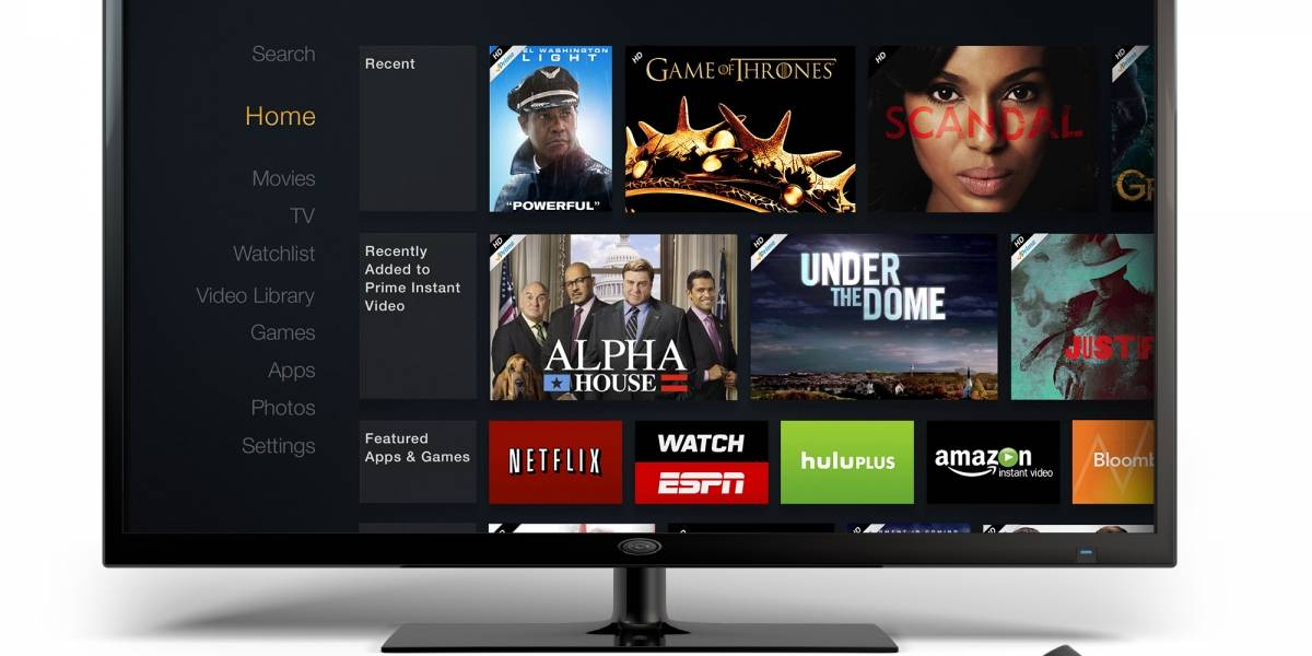 Amazon lanza su reproductor de streaming y juegos Fire TV