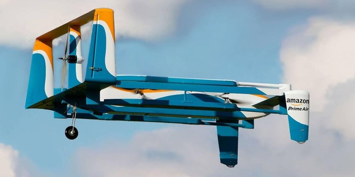 Drones de Amazon soportarán 2,3 kilos de carga y viajarán a 32 km/hr