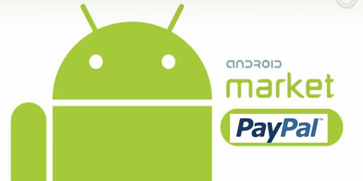 Futurología: Se podrá pagar con Paypal en Android Market