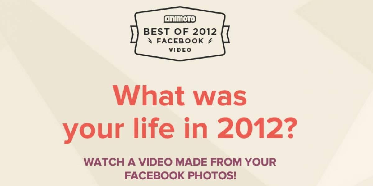 """Crea automáticamente un video de """"lo mejor del 2012"""" con tus fotos de Facebook"""