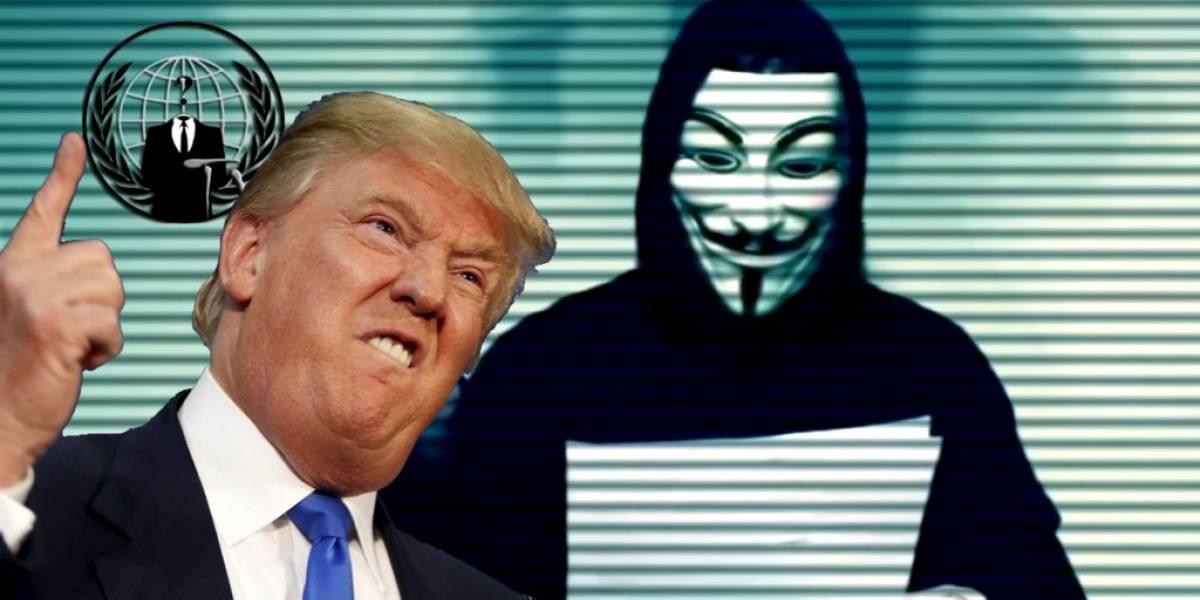 """Anonymous le declara la """"guerra total"""" a Donald Trump"""