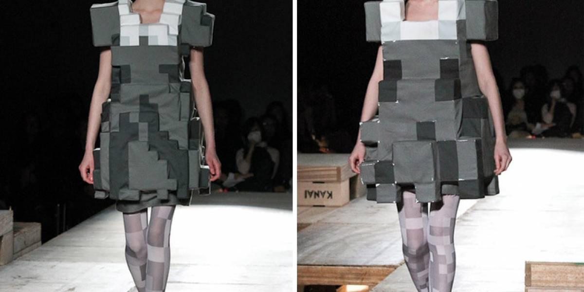 Colección de moda basada en la estética de píxels