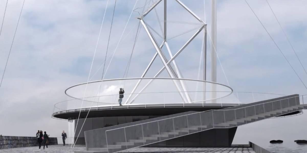 Esta torre buscará esconder las antenas del Cerro San Cristóbal en Santiago