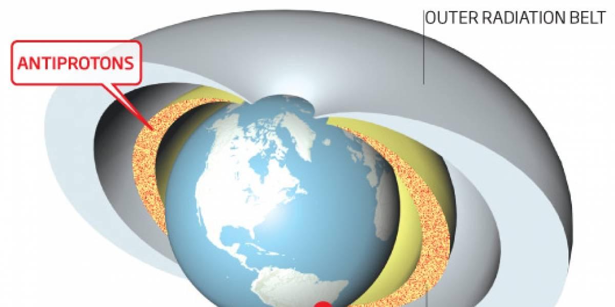 Descubren un anillo de antiprotones alrededor de la Tierra