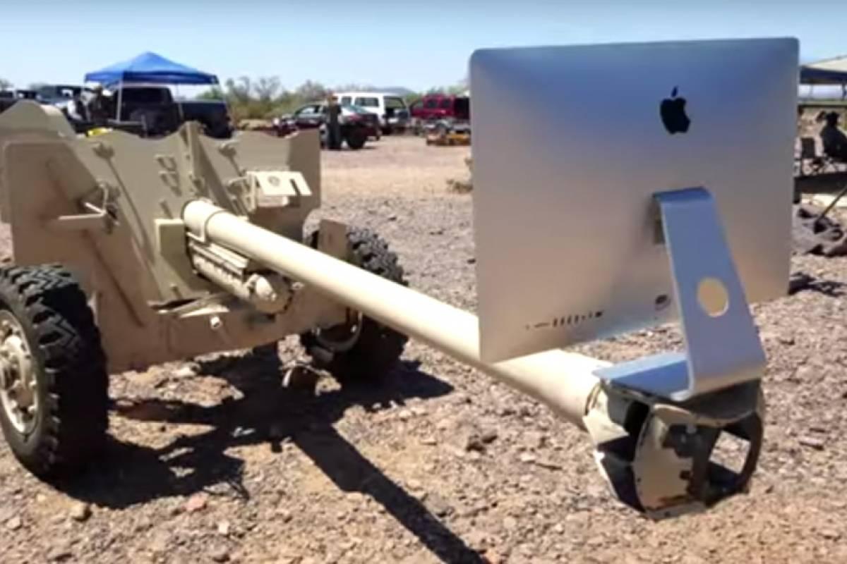 Cañón antitanques destruye iMac con pantalla Retina 5K en espectacular video