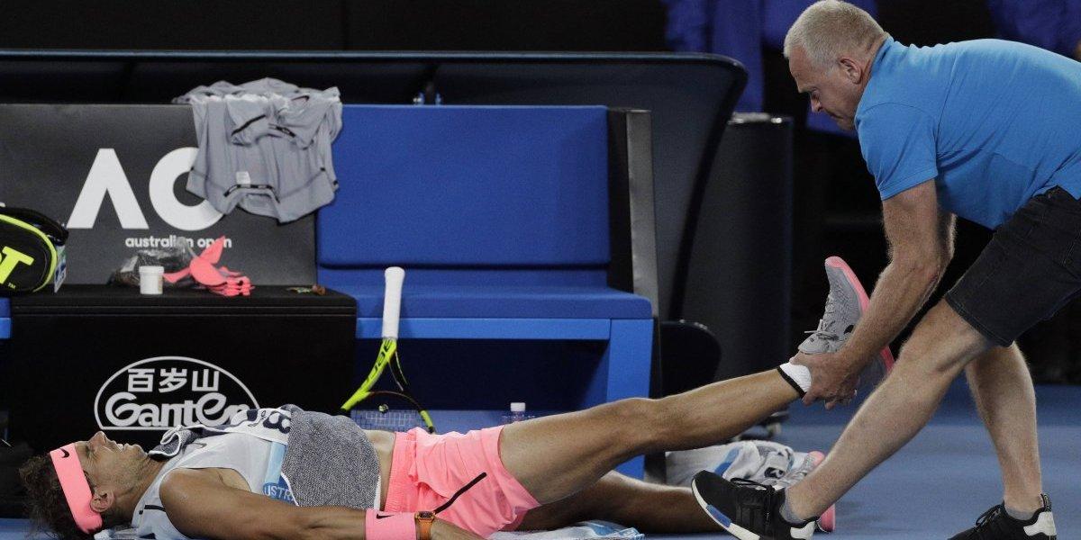 Rafael Nadal sufre por las lesiones y se retiró del Abierto de Australia