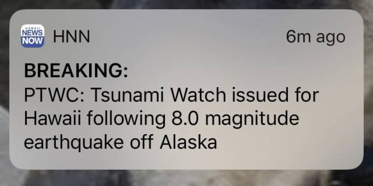Cancelan alerta de tsunami en Alaska tras fuerte sismo