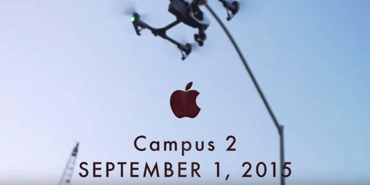 Así va la construcción del nuevo campus de Apple [VIDEO]