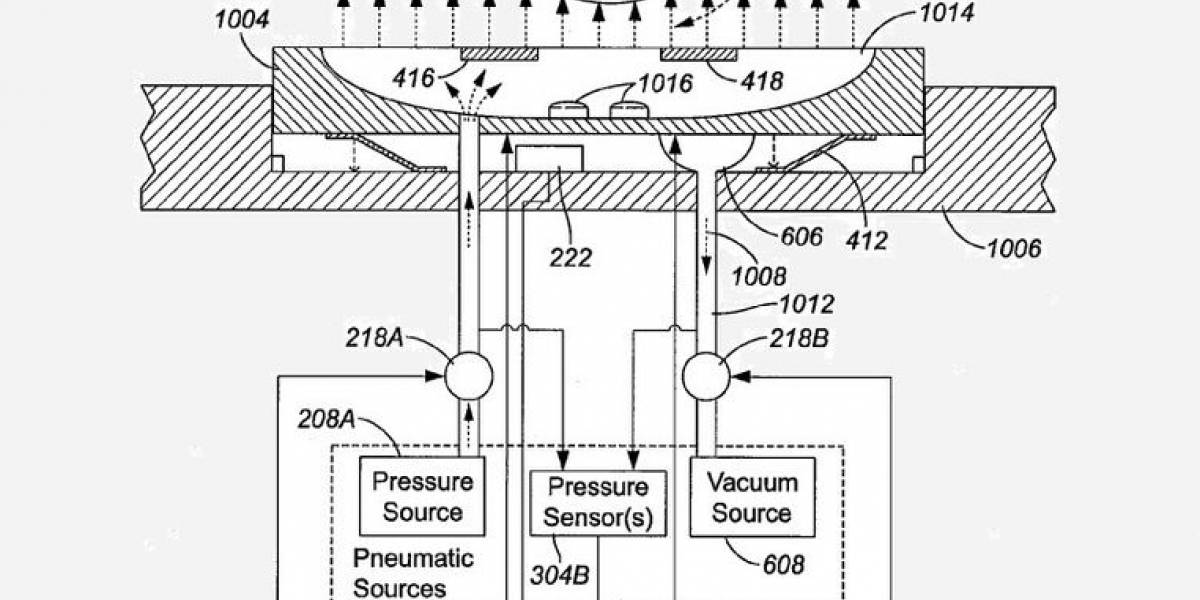 Apple patenta teclado que entrega respuesta táctil a través de aire