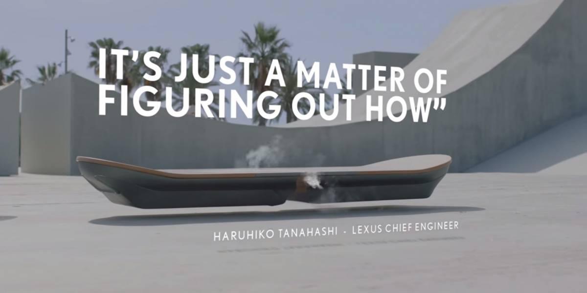 Lexus asegura haber creado una patineta voladora