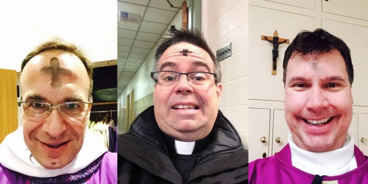 Católicos celebran el Miércoles de Ceniza en redes con selfies #ashtag