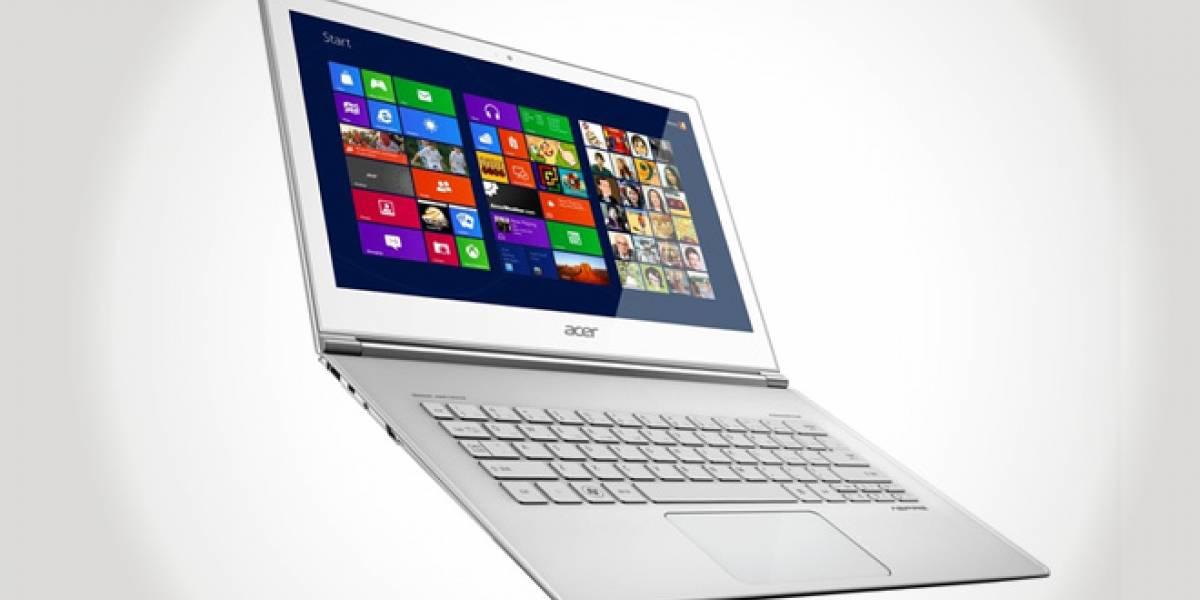 Acer presenta ultrabooks con pantallas táctiles y Windows 8