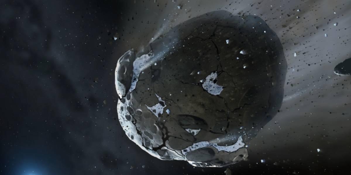 Descubren agua en los restos de un planeta destruido