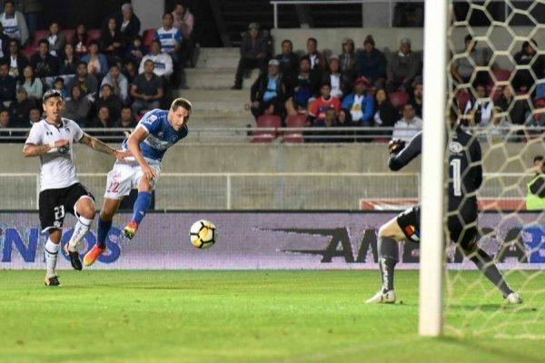 Luciano Aued marcó el gol del triunfo 1-0 de la UC sobre Colo Colo en el amistoso jugado en La Serena / Foto: Agencia UNO