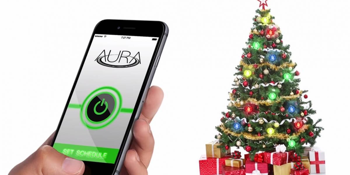 Aura, las luces navideñas inalámbricas que buscan suerte en Kickstarter