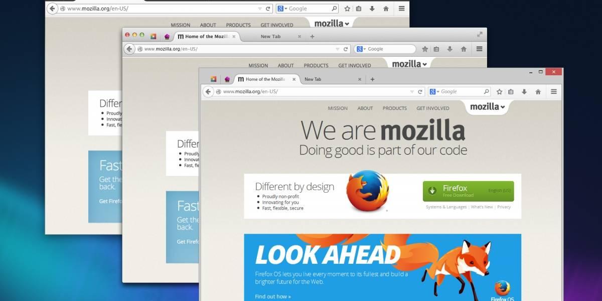 Firefox prueba su nueva interfaz Australis en la versión Nightly