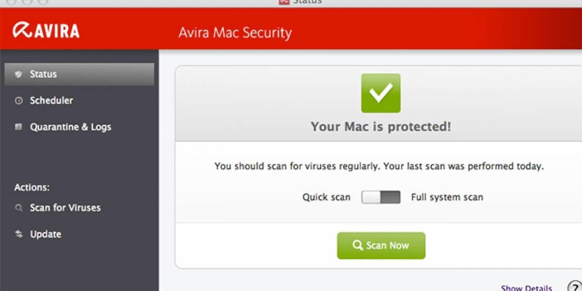 Avira lanza software antivirus gratuito para Mac OS X