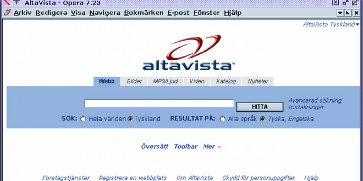 Hasta la vista, Altavista