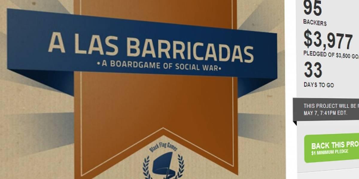"""""""A las Barricadas"""", un juego de mesa sobre hacer protestas que busca dinero en Kickstarter"""
