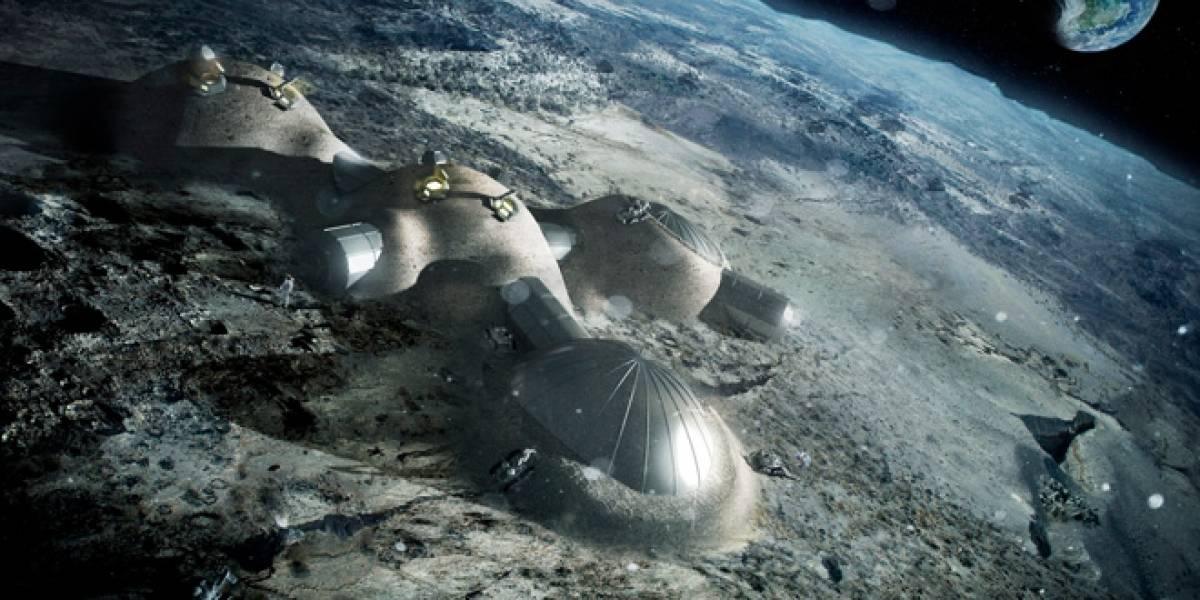 Agencia Espacial Europea evalúa si se puede construir una base lunar con impresoras 3D