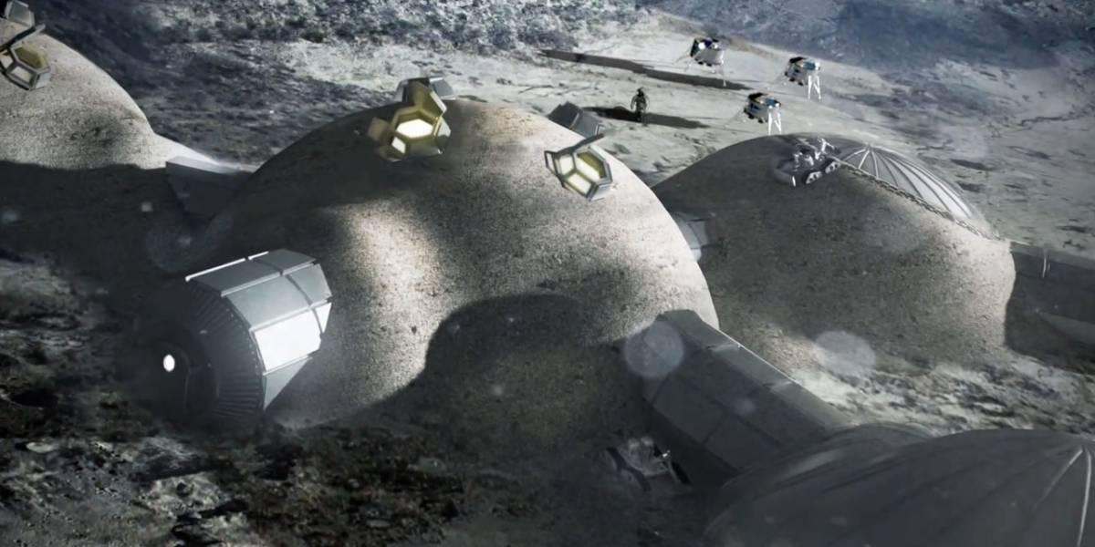 Agencia Espacial Europea planea una base lunar impresa en 3D