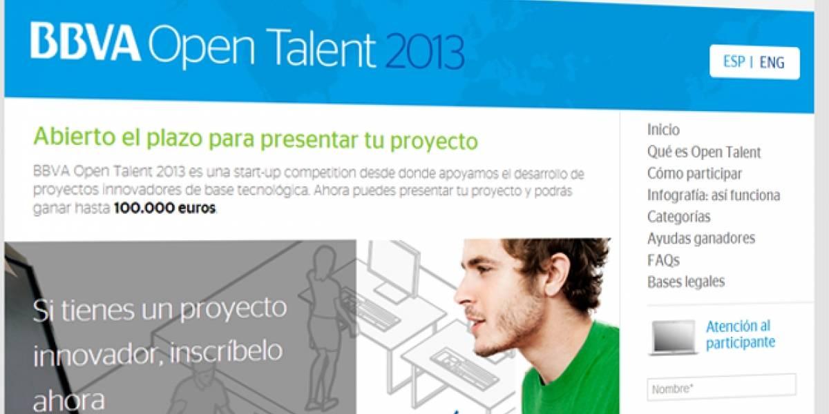Atención, emprendedor: BBVA Open Talent 2013 ya abrió sus inscripciones