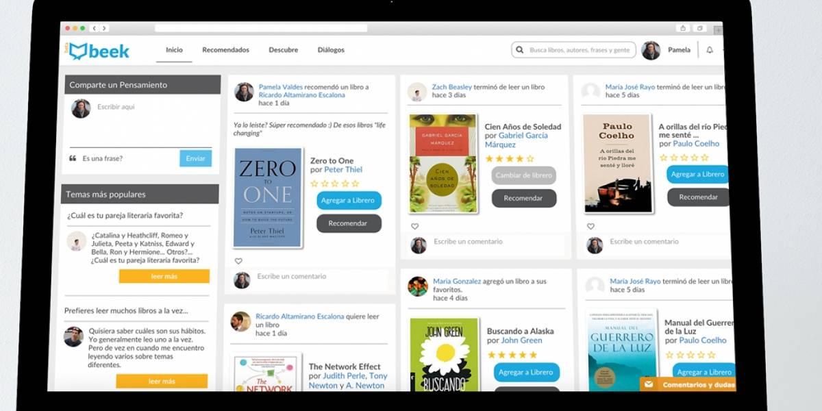Beek, la creciente red social para fanáticos de los libros
