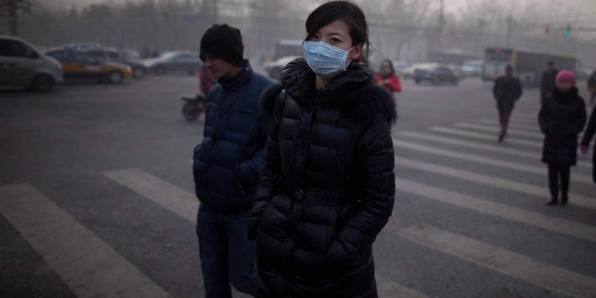 La contaminación en Pekín provocó su primera alerta roja