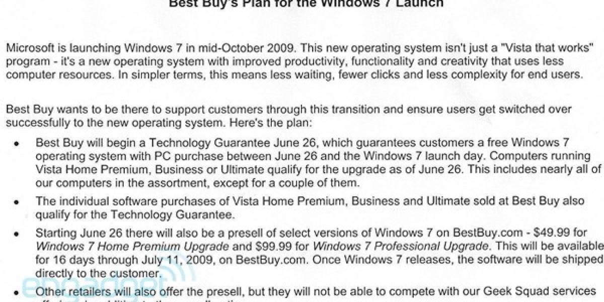 Windows 7 a mitad de precio con respecto a Vista