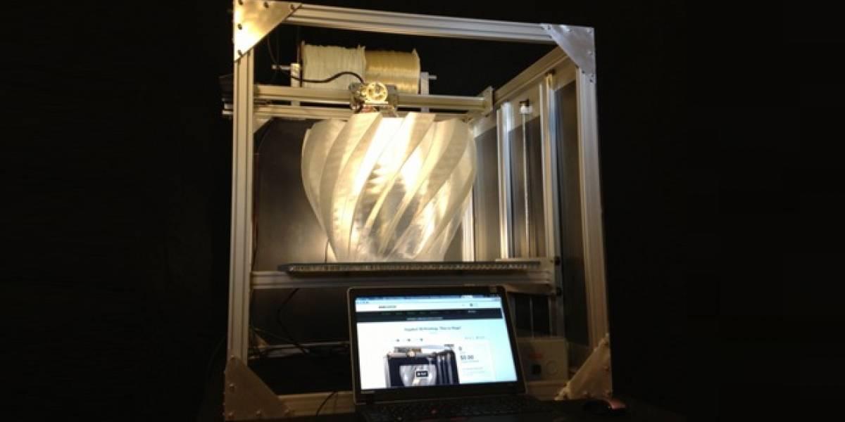 La exitosa campaña en Kickstarter de re:3D para entregarnos una impresora 3D tamaño XXL