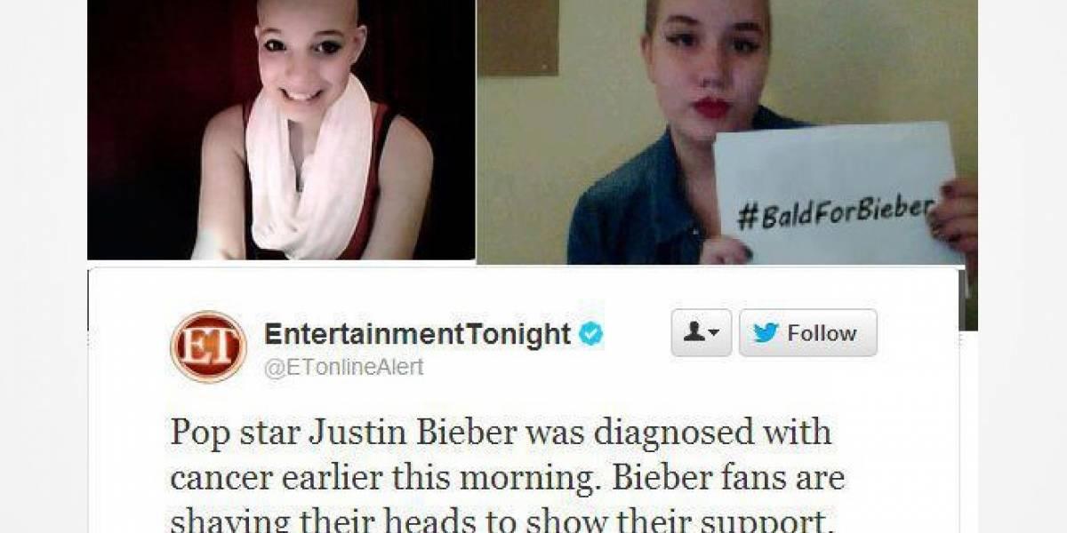 Fans de Justin Bieber se rapan por culpa de un tweet falso