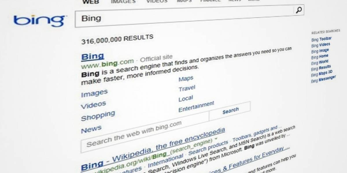 Bing limpia su página de resultados, adopta un look minimalista