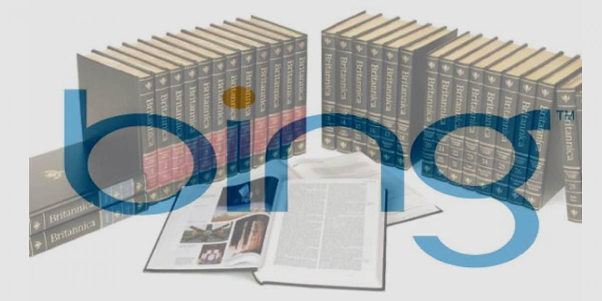 Bing se alía con la Enciclopedia Británica