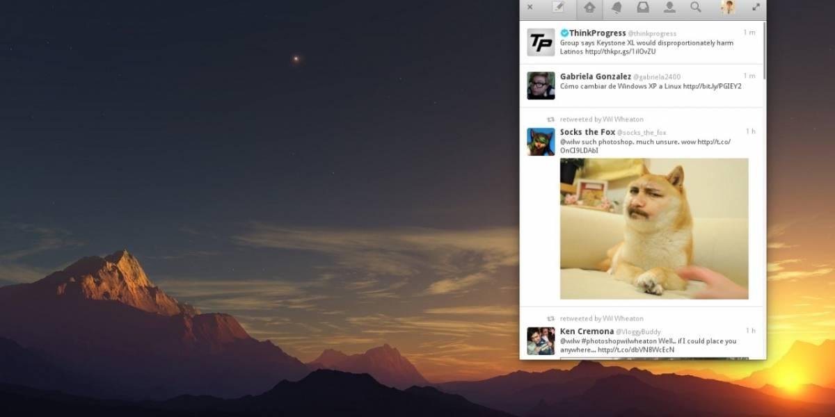 Elementary OS ahora tiene su propio cliente de escritorio nativo de Twitter