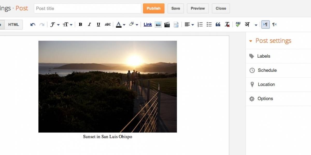 Google libera nueva versión de Blogger