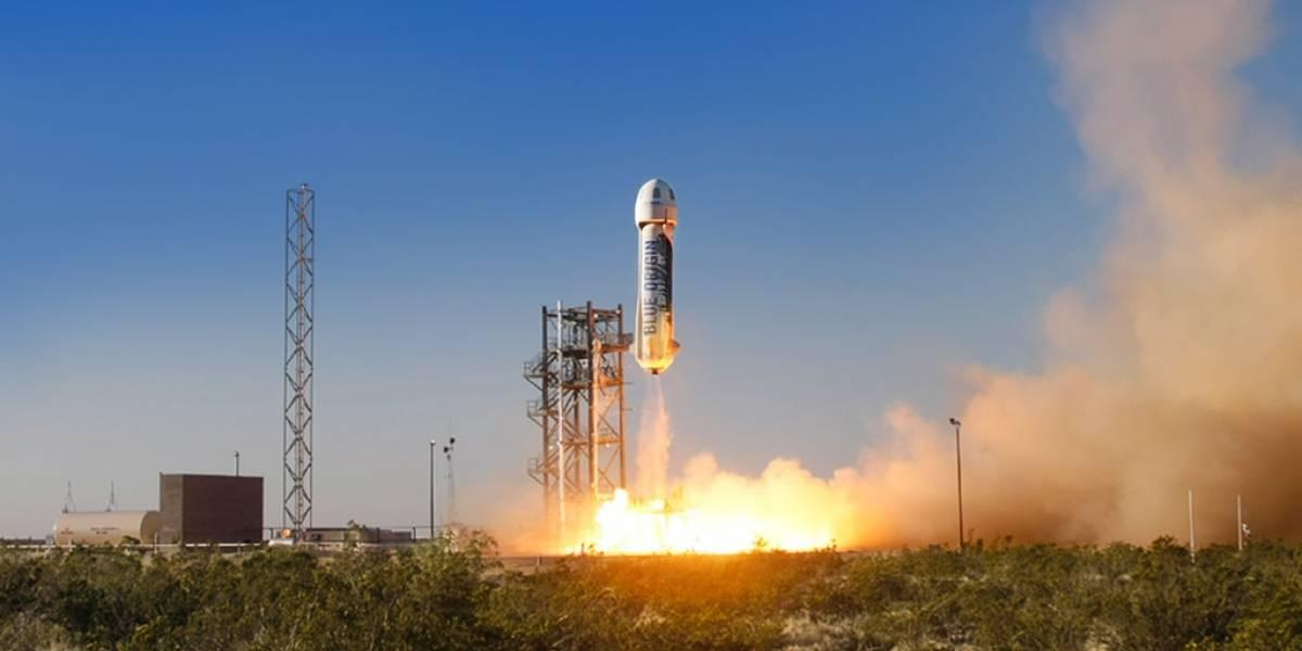 El New Shepard de Blue Origin concluyó su viaje de manera exitosa