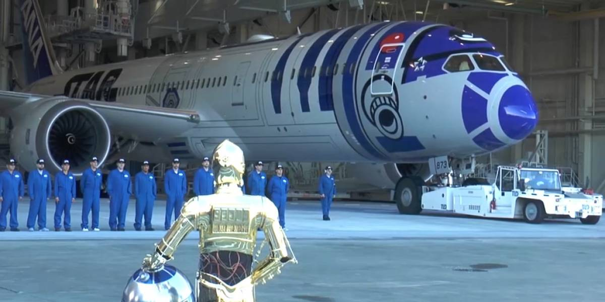 Se reveló el avión Boeing 'R2-D2' de All Nippon Airways