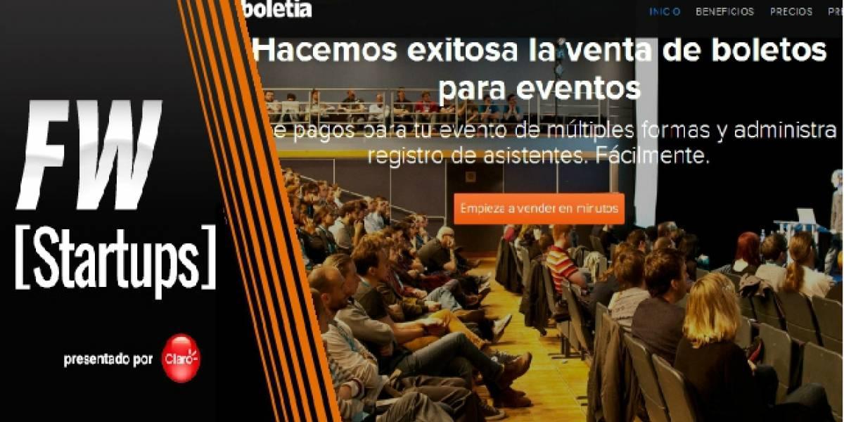 Boletia, una nueva forma de vender boletos por internet [FW Startups]