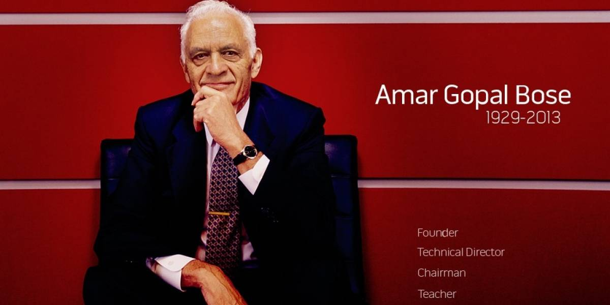 Murió Amar G. Bose, el creador de los parlantes y audífonos Bose