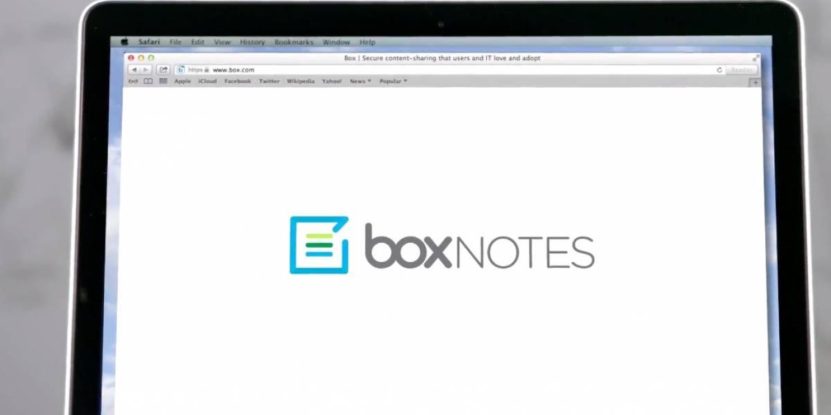 Box lanza aplicación online para tomar notas colaborativas