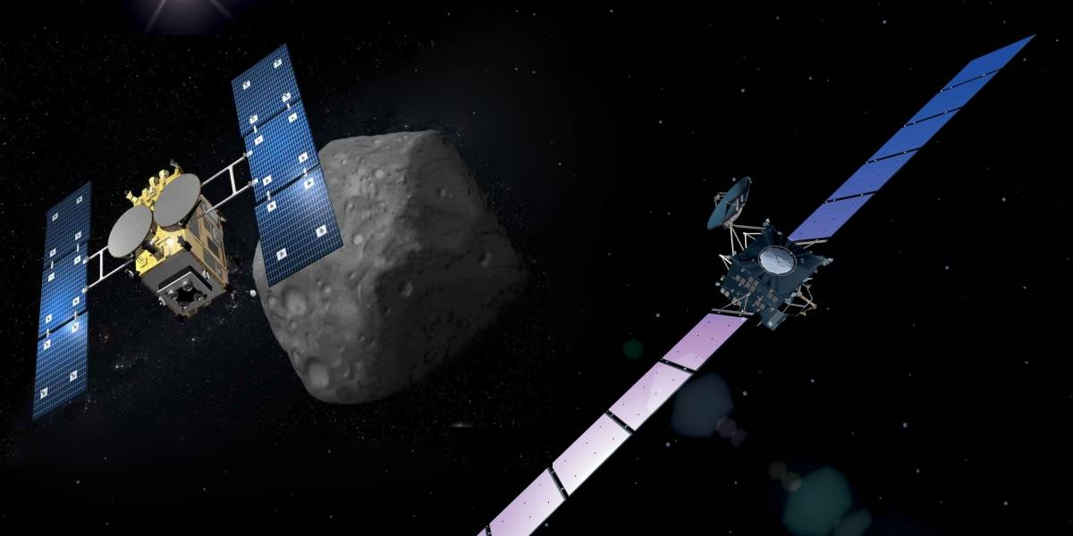 Rosetta vs. Hayabusa-2: un cara a cara en el espacio