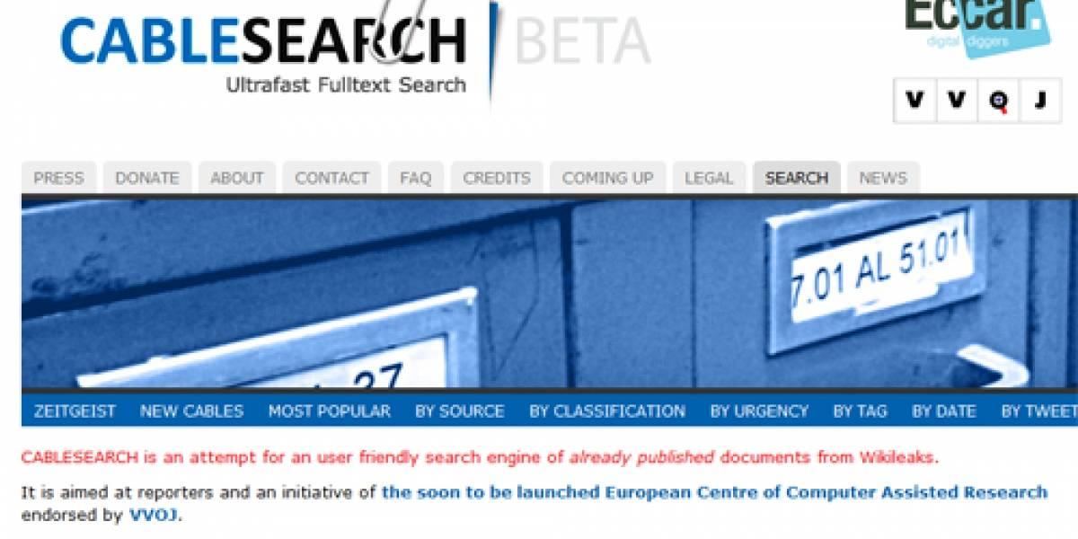 """Nace """"Cablesearch"""", el primer buscador de documentos filtrados por Wikileaks"""